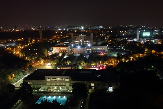 ISB- Hyderabad campus @ night_InsideIIM
