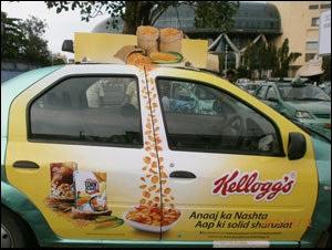 Meru Cab with Kellogg's campaign