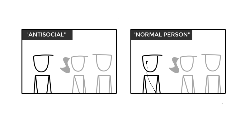 It's that easy to be called not antisocial - courtesy Doghouse Diaries