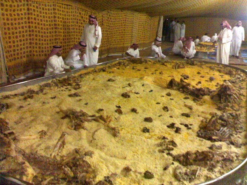 That's how the Arabs do food. Communally.
