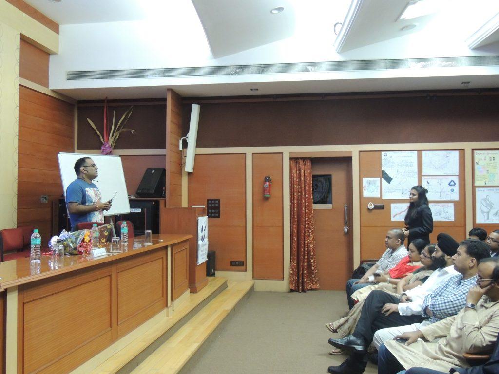 Mr. Kavindra Mishra at IIM I Mumbai Campus_