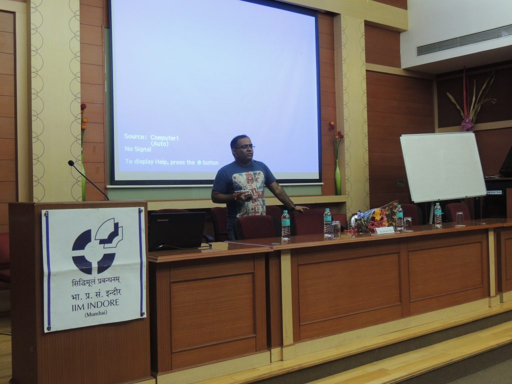 Mr. Kavindra Mishra at IIM I Mumbai Campus