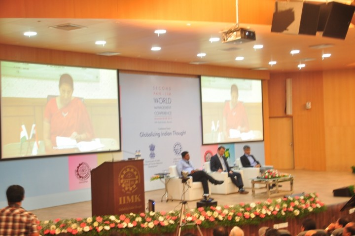 Hon'ble HRD Minister, Smt. Smriti Zubin Irani, Delivering Inaugural Address in Pan IIM World Management Conference at IIM Kozhikode