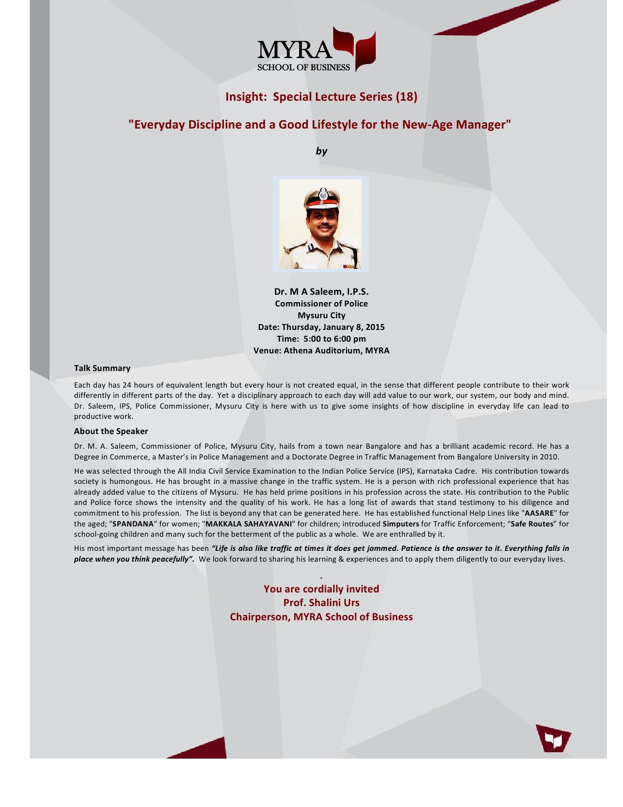 MYRA-SpecialLecture-18-Dr.Saleem-invite
