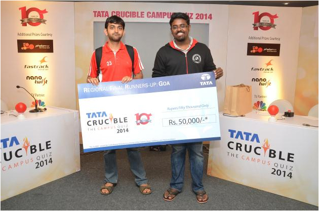 Runner Up, Goa Institute of Management - Srijit Kumar and Saahil Sharma