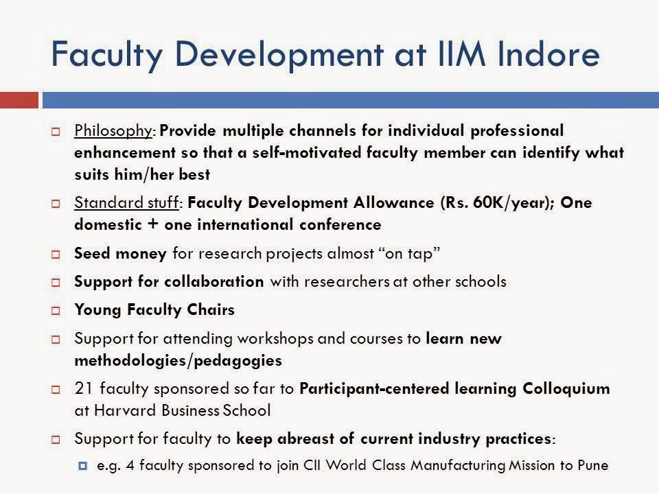 IIM Indore agenda