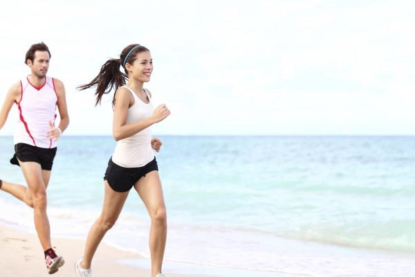 couple running workout
