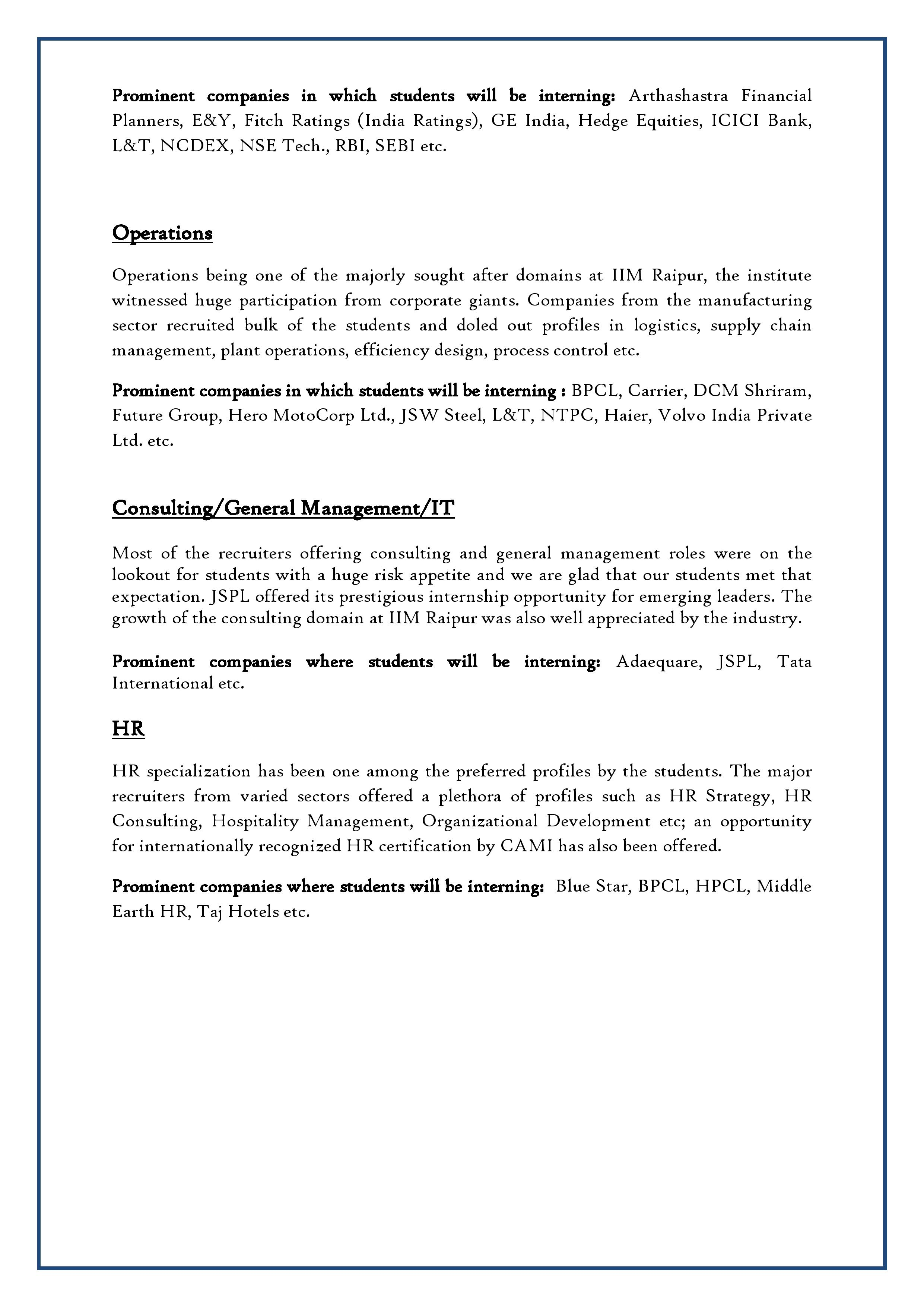 IIM Raipur_Summer Internship Report 2014-2016 - 18-02-2015