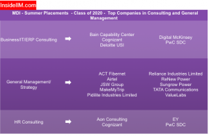 MDI Summer Placement Report - Companies: Consulting & General Management