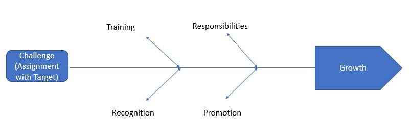 The Diagram highlighting Employee Growth