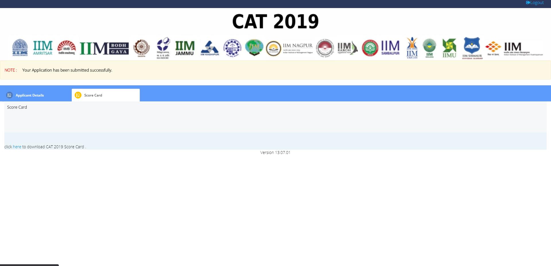 Download CAT 2019 result - scorecard