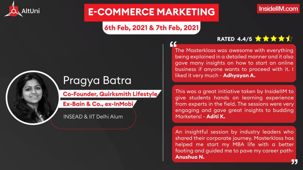 E-Commerce Marketing Masterklass With Pragya Batra