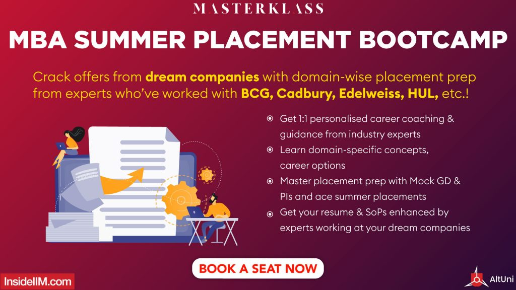 MBA Summer Placement Bootcamp