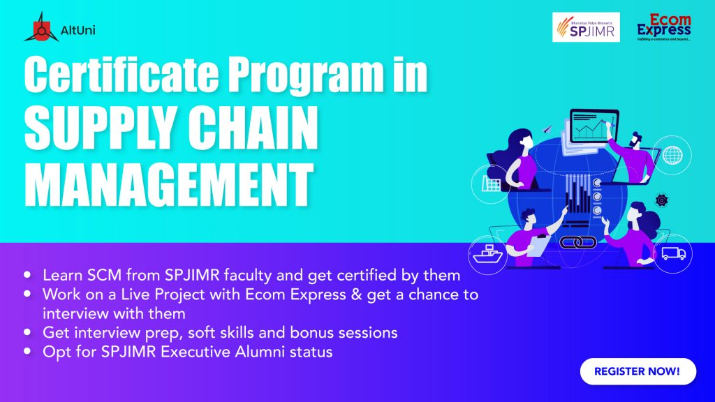 Certificate Program in Supply Chain Management with SPJIMR & Ecomm Express